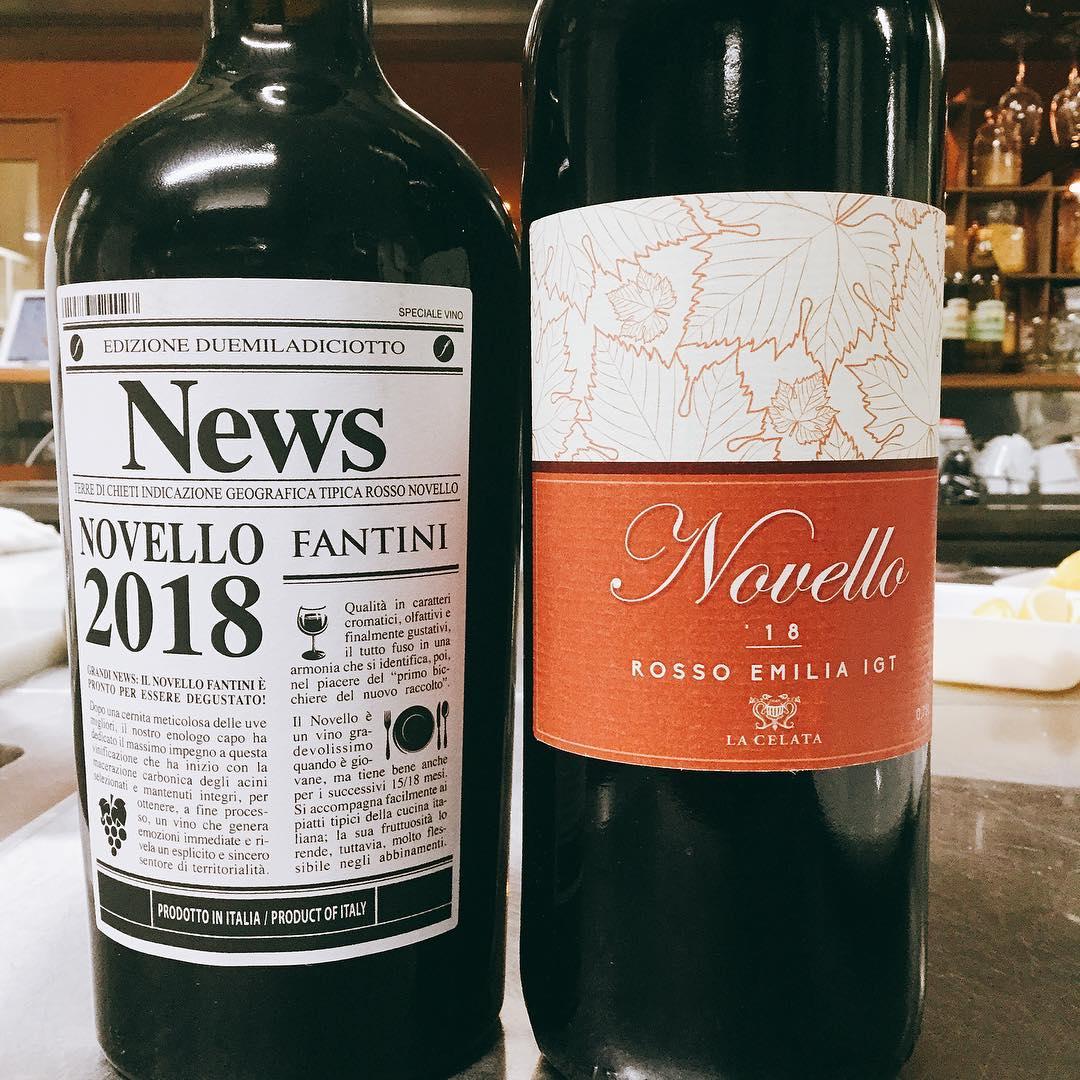 イタリア新酒ワイン ノヴェッロ パラヴィーノも入荷してます 今年はこちらの2種類のご用意です️ 解禁は明日️ お待ちしてます🏻