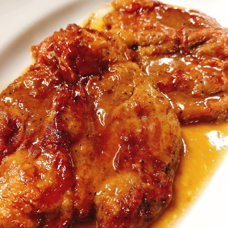 もち豚のサルティンボッカ たまーに肉盛りに入ってます リクエスト🏻♂️🏻♀️です。  来週月曜日はお休みいただきます。 火曜日よりお待ちしております🏻